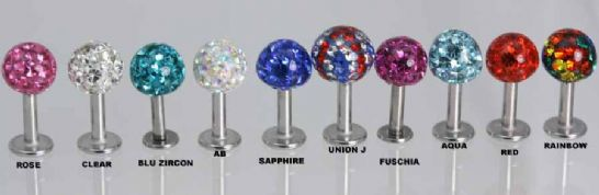 Labret Resin Coated Ball